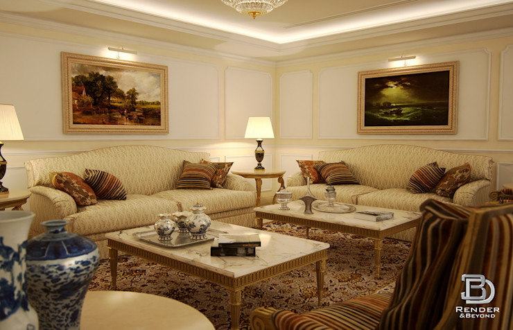 Living room 3D Render&Beyond Living room