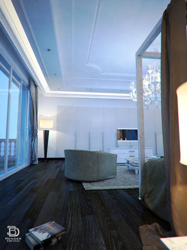 Bedroom 3D Render&Beyond Moderne Schlafzimmer