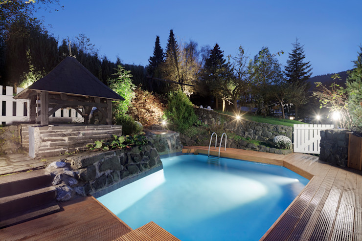 privater Pool Bleibe Moderne Hotels