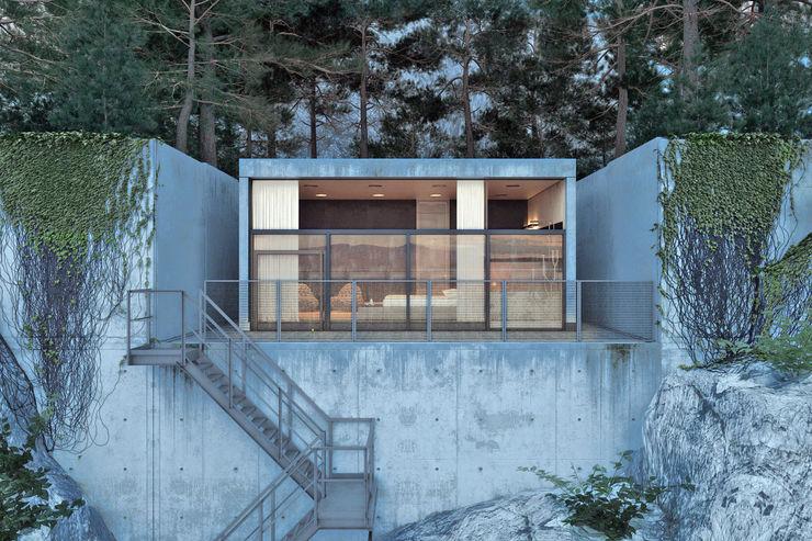 IGOR SIROTOV ARCHITECTS Minimalist houses
