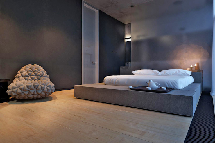 IGOR SIROTOV ARCHITECTS Minimalist bedroom