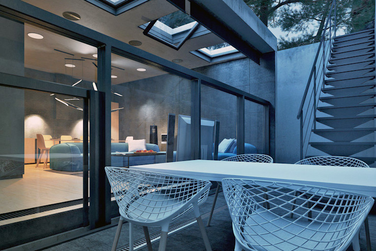 IGOR SIROTOV ARCHITECTS Minimalist balcony, veranda & terrace