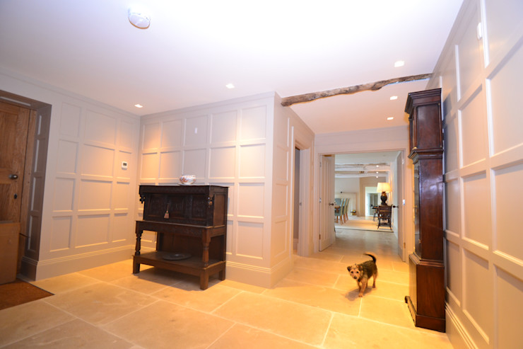 Rushmore Farm, Upton Studio Four Architects Classic style corridor, hallway and stairs