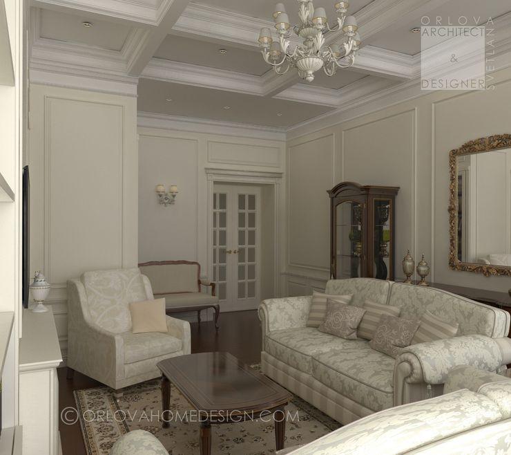Квартира в Санкт-Петербурге Orlova Home Design Гостиная в классическом стиле