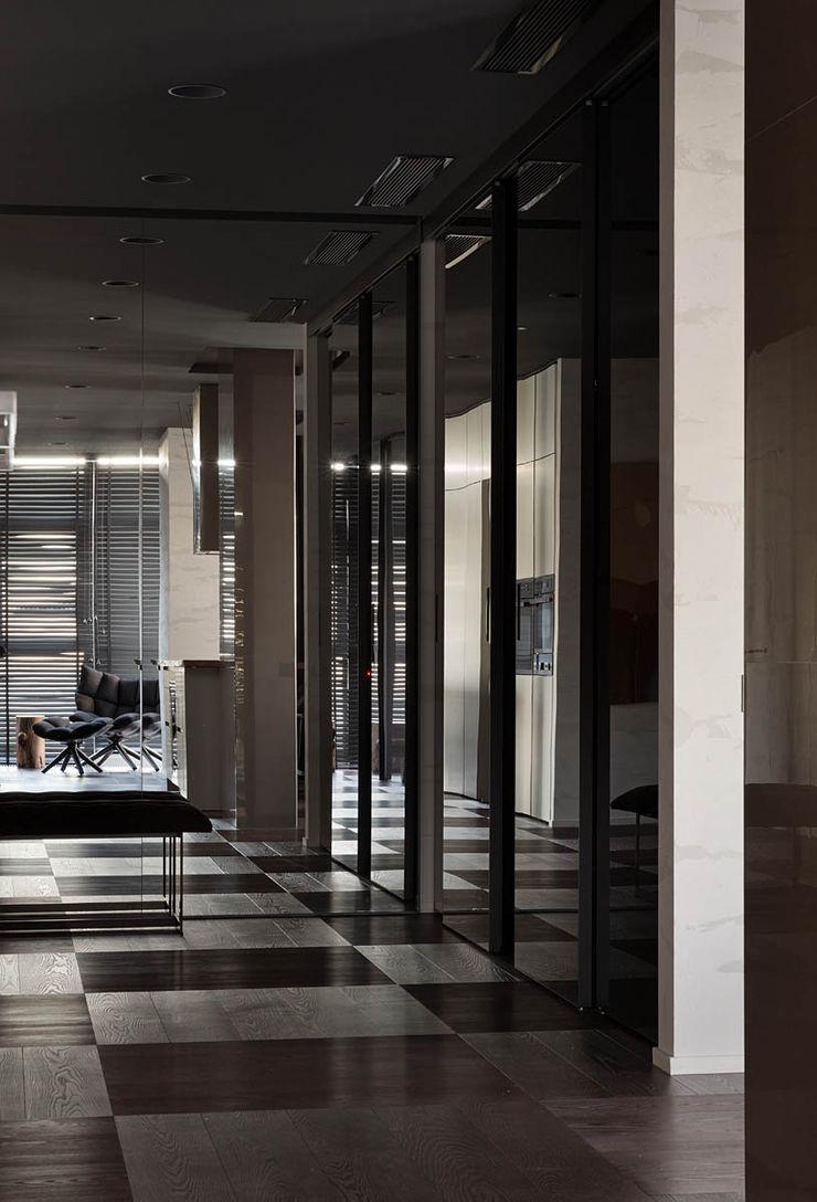 INCUBE Алексея Щербачёва Minimalist corridor, hallway & stairs
