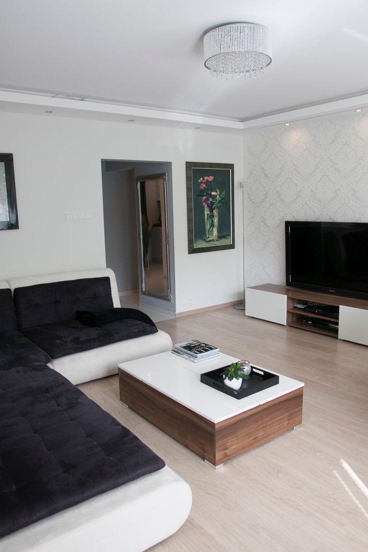 A&A Studio Wnętrz Salones de estilo moderno
