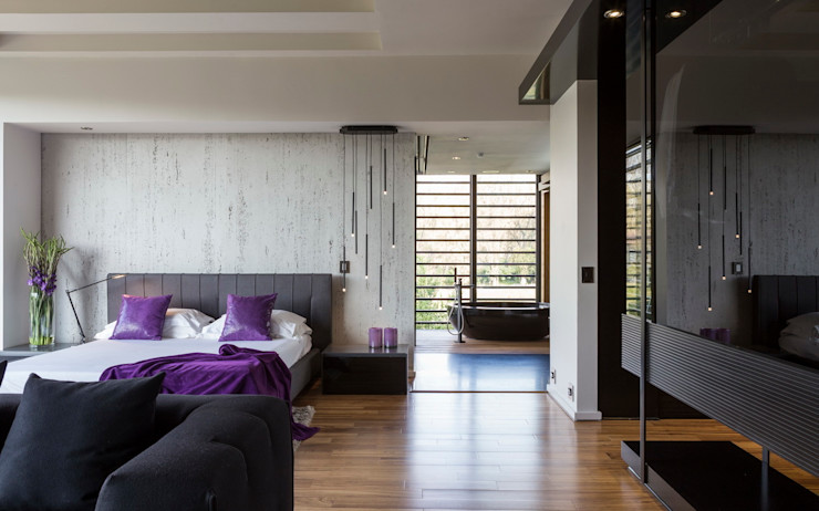 House in Blair Atholl Nico Van Der Meulen Architects 現代浴室設計點子、靈感&圖片