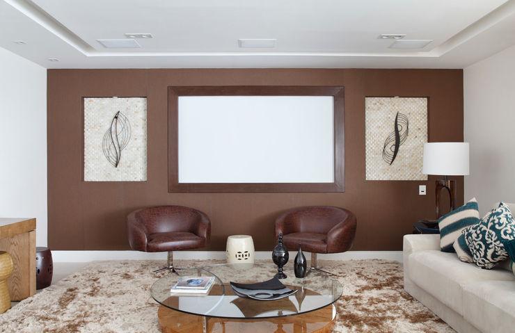 Living Ana Adriano Design de Interiores Salas de estar modernas