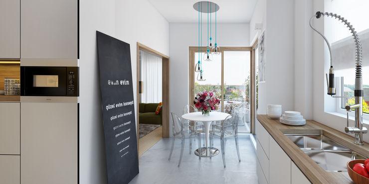 İNDEKSA Mimarlık İç Mimarlık İnşaat Taahüt Ltd.Şti. Modern Kitchen