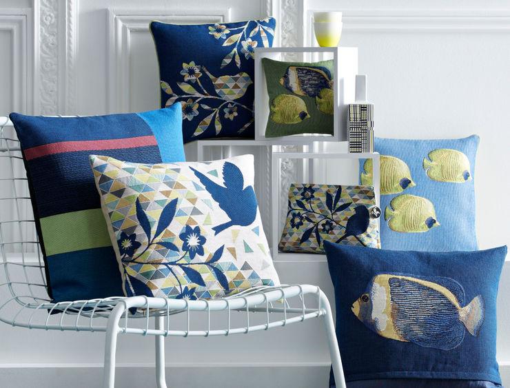 Cushions - blue Lagoon Tissage Art de Lys HouseholdAccessories & decoration