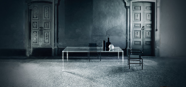 Luminous Glass Dining Table Glassdomain Dining roomTables