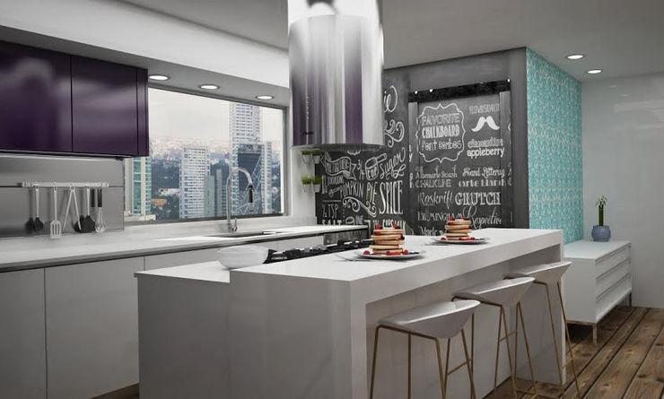 Cocinas Modernas Citlali Villarreal Interiorismo & Diseño Cocinas modernas