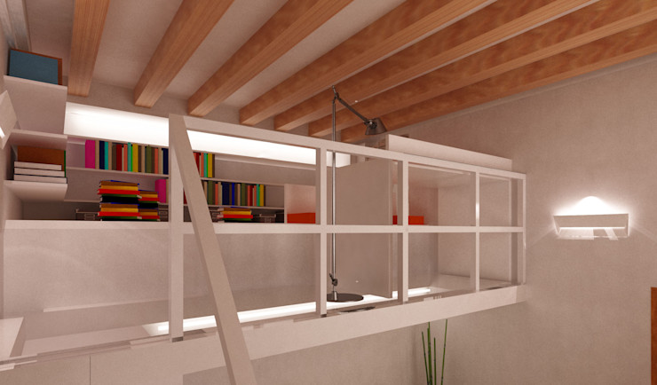 Azzurra Lorenzetto Modern Study Room and Home Office