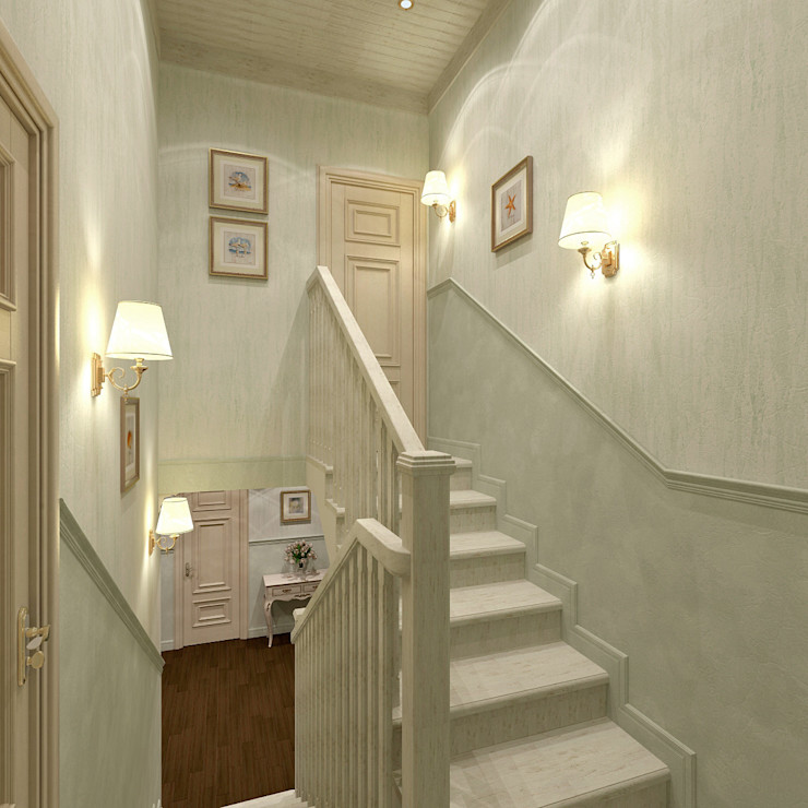 Aledoconcept Classic style corridor, hallway and stairs