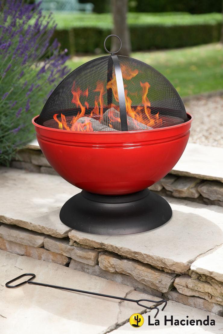 Globe - red La Hacienda Garden Fire pits & barbecues