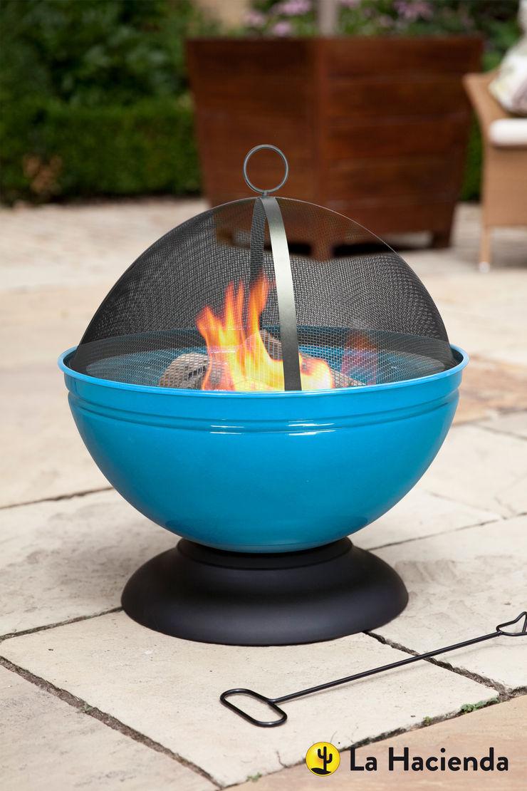 Globe - blue La Hacienda Garden Fire pits & barbecues
