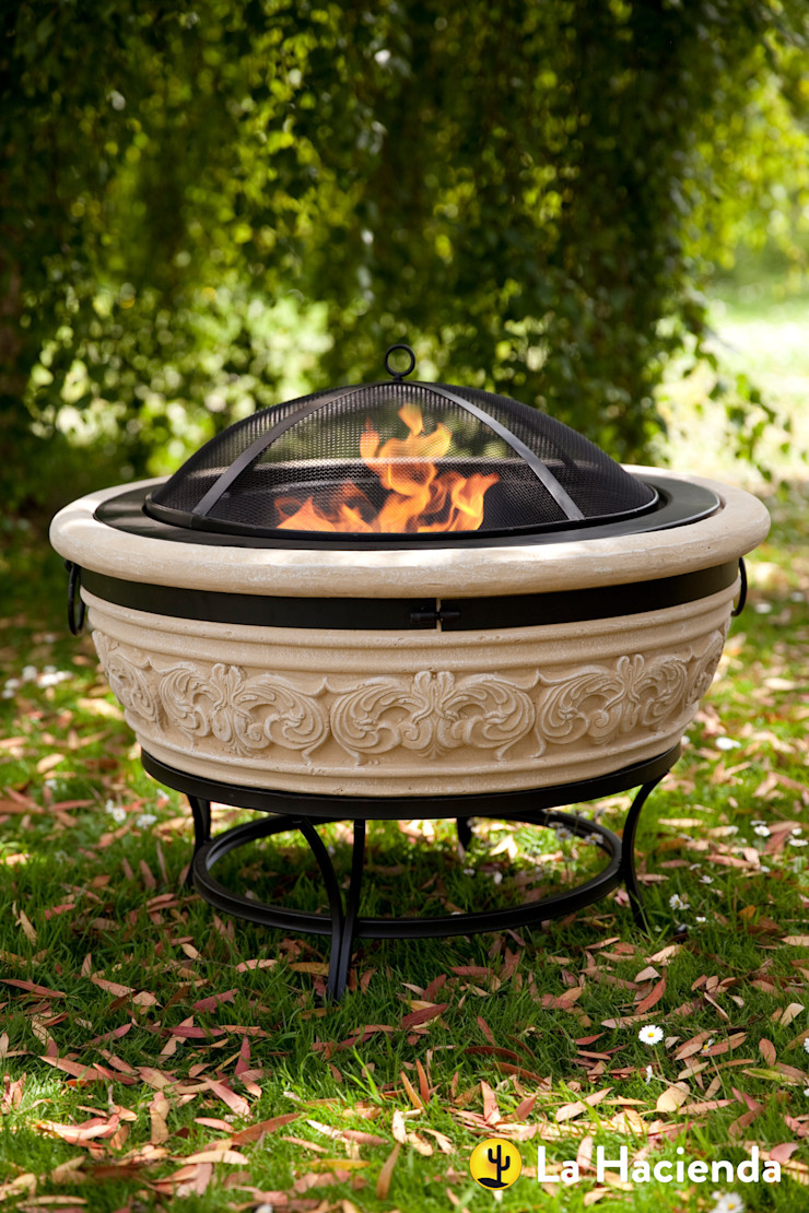 Carved Scroll large La Hacienda Garden Fire pits & barbecues