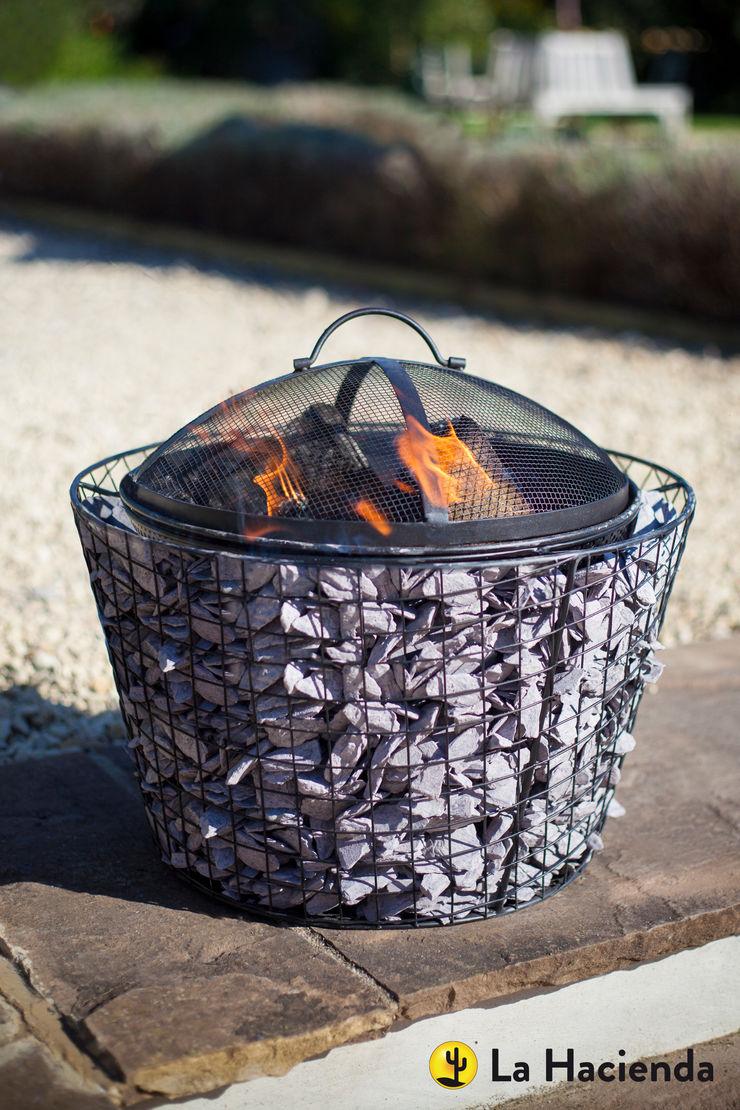 Cone Pebble mesh with grill La Hacienda Garden Fire pits & barbecues