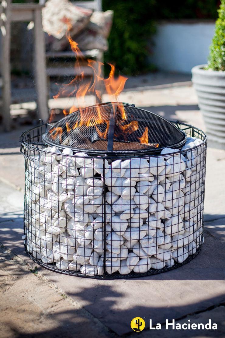 Round pebble mesh with grill La Hacienda Garden Fire pits & barbecues