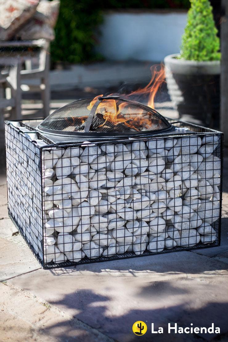 Square pebble mesh with grill La Hacienda Garden Fire pits & barbecues