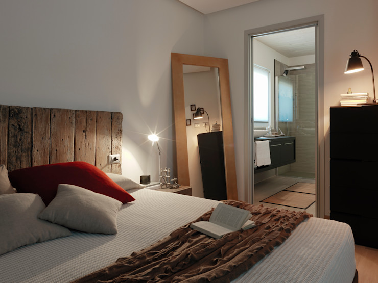 Villa Our Time DomusGaia Camera da letto moderna
