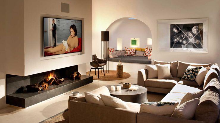 Living Room TG Studio Mediterranean style living room