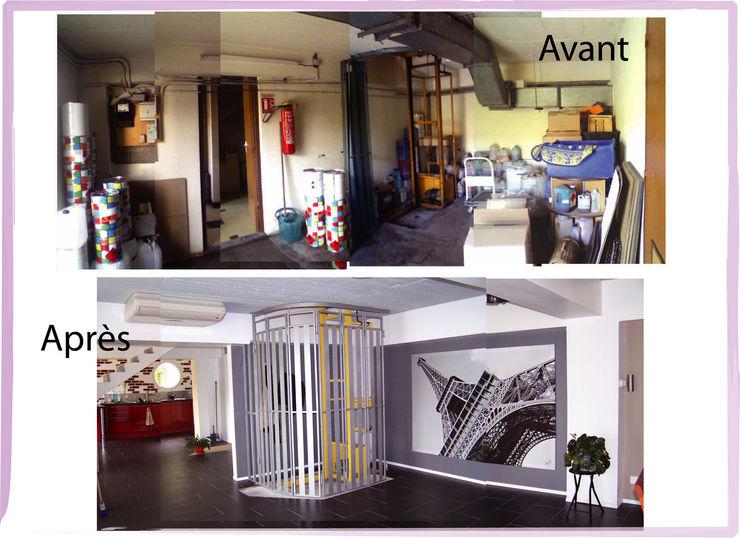 Entrée X-ACT DESIGN Couloir, entrée, escaliers industriels