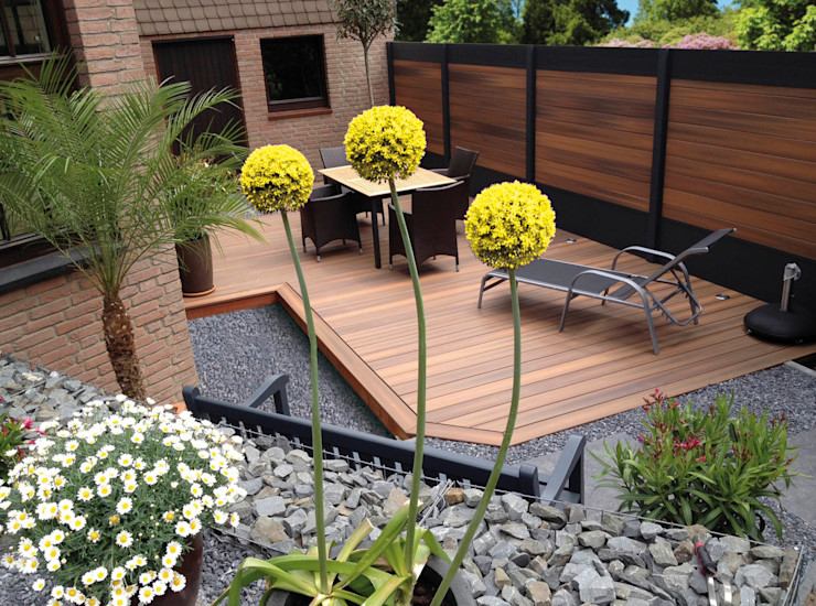 Deck-linéa Jardines modernos