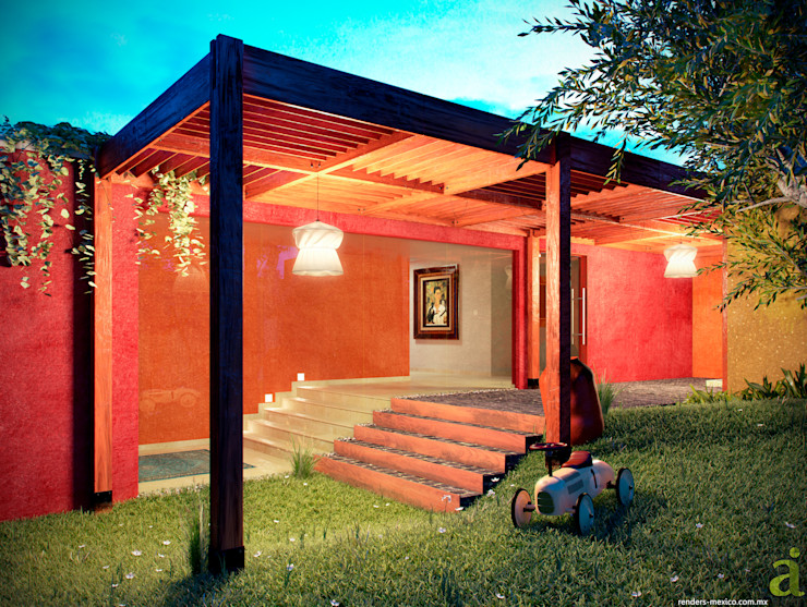Patio House - Garden arQing Garden Greenhouses & pavilions