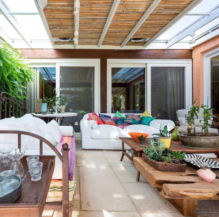 CRR | Varanda Kali Arquitetura Varandas, alpendres e terraços modernos