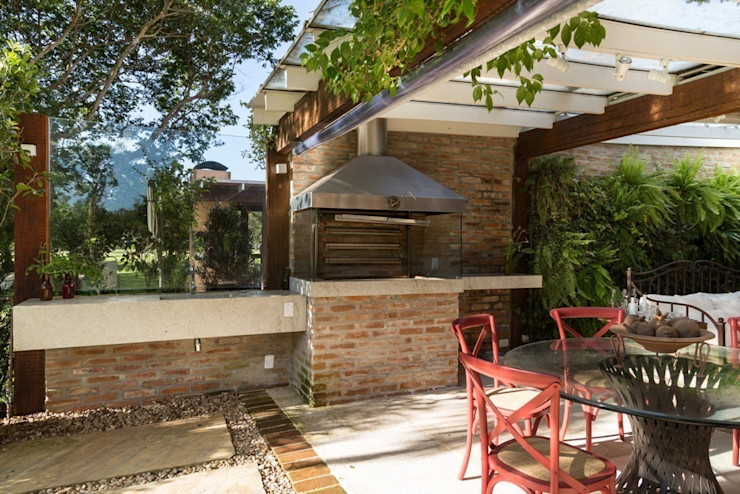 Kali Arquitetura Modern balcony, veranda & terrace