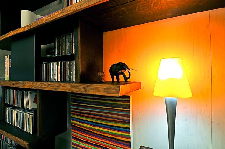 Architekturbüro 011 Living roomShelves