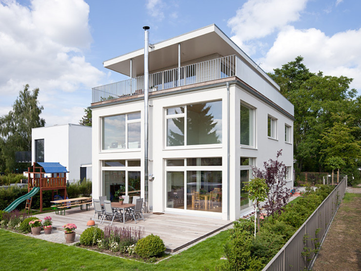 Müllers Büro Casas estilo moderno: ideas, arquitectura e imágenes