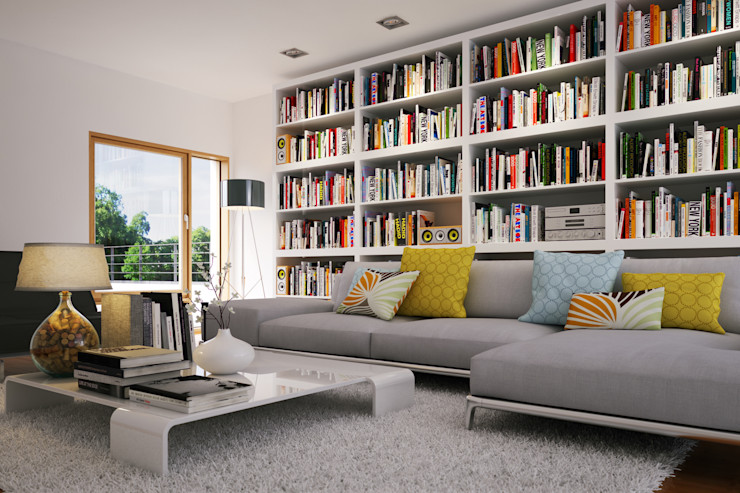 Home Library Piwko-Bespoke Fitted Furniture Living roomShelves