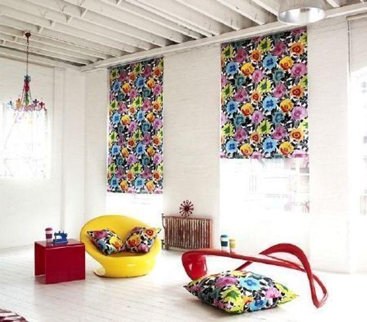 Prestigious Textiles - Diva Fabric Collection Curtains Made Simple Salones de estilo moderno