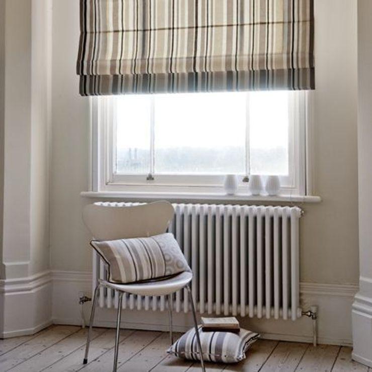 Clarke and Clarke - Astrid Fabric Collection Curtains Made Simple Salones de estilo escandinavo