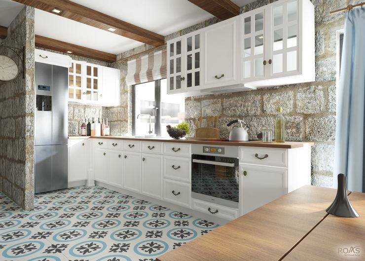 ROAS ARCHITECTURE 3D DESIGN AGENCY Mediterranean style kitchen