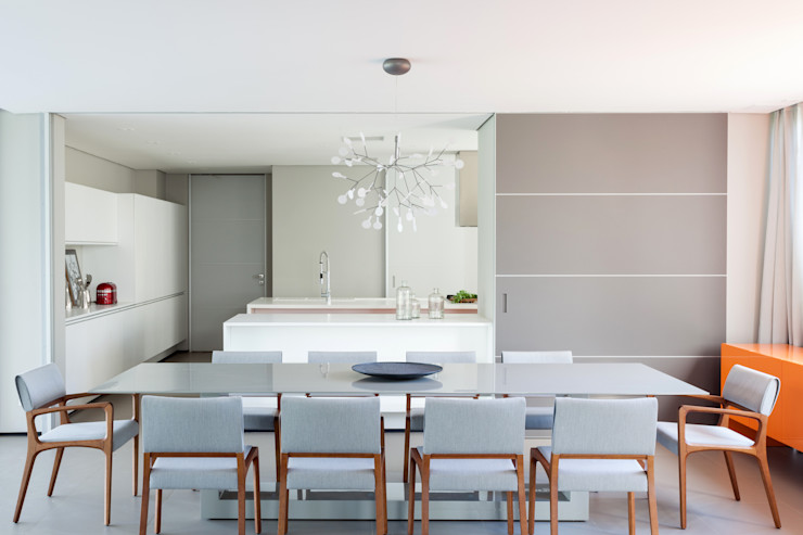 Consuelo Jorge Arquitetos Salle à manger minimaliste