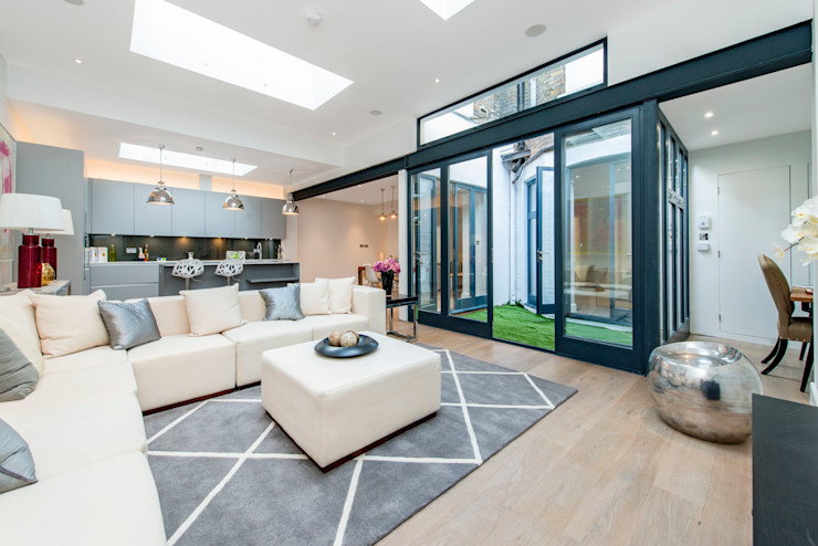 Basement Flat Refurb Balance Property Ltd Modern living room