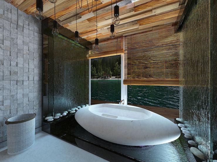 homify Ванная комната в тропическом стиле