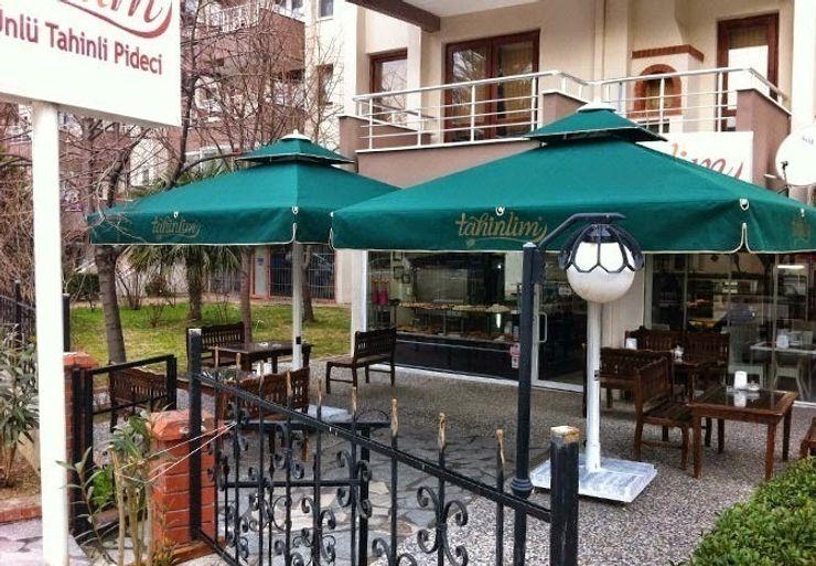 Teleskopikal Cafe tipi güneş şemsiyeleri Akbrella Şemsiye San. ve Tic. A.Ş BahçeHavuz & Göletler