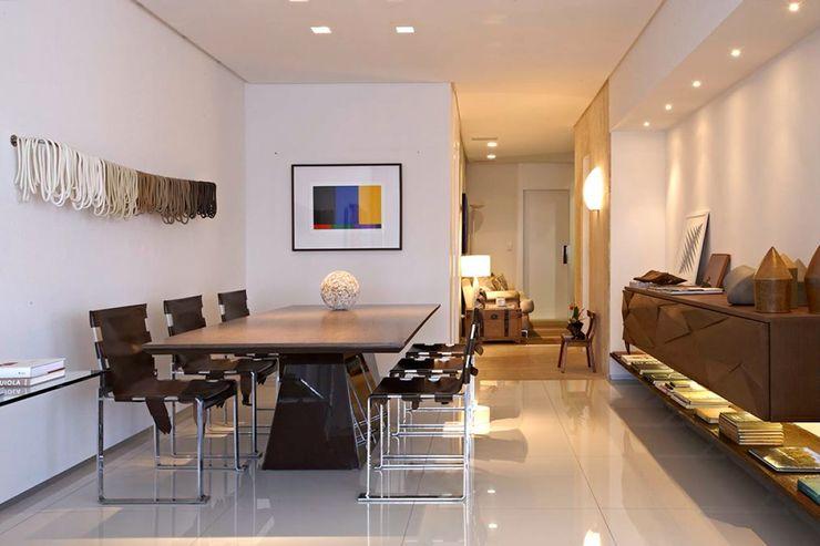 Apartamento Ninho Coutinho+Vilela Salas de jantar modernas