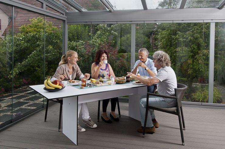 Terrassendach aus Glas MR Gruppe Moderner Balkon, Veranda & Terrasse