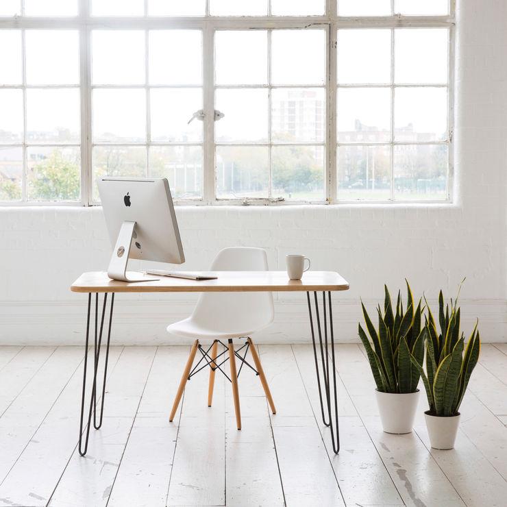 Midcentury Modern Desk in Solid Ash Biggs & Quail Навчання/офісСтоли