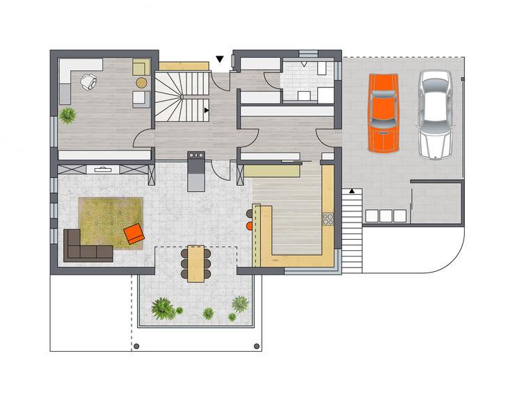 Erdgeschoss Achtergarde + Welzel Architektur + Interior Design