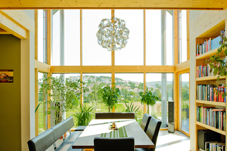 Wohnhaus W. in Nüdlingen Achtergarde + Welzel Architektur + Interior Design Esszimmer im Landhausstil