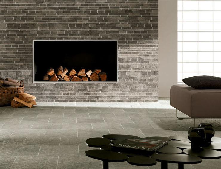 Structure Mosaic Fireplace Feature Target Tiles 미니멀리스트 거실