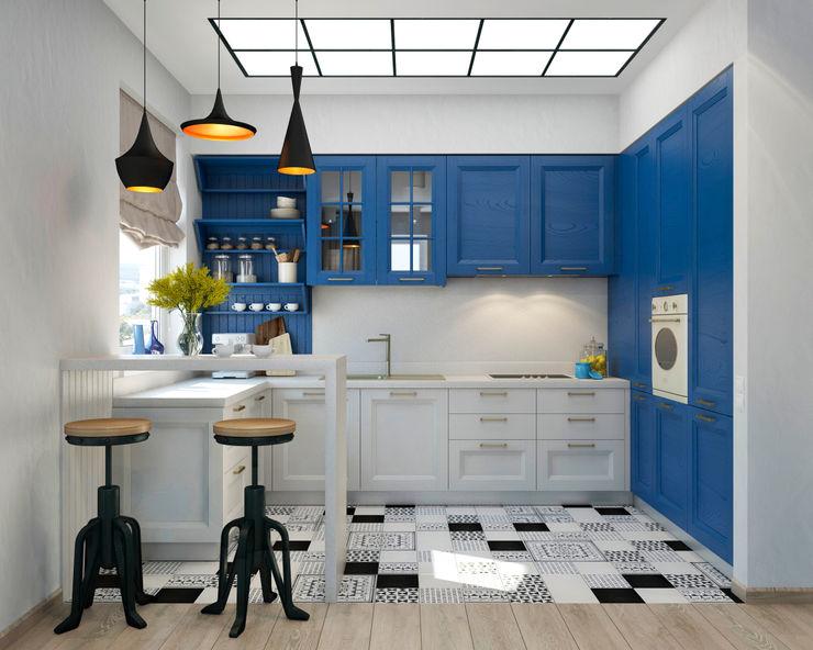tatarintsevadesign 地中海デザインの キッチン