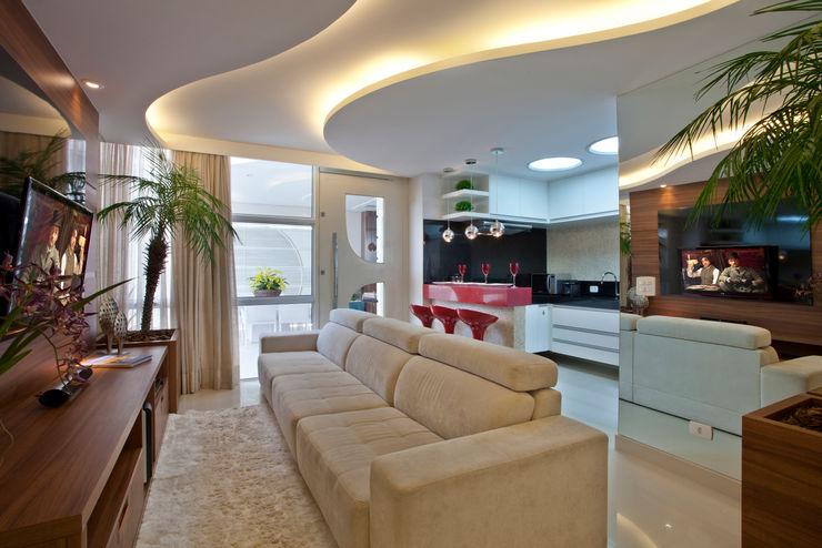 Reforma Casa Ipiranga Designer de Interiores e Paisagista Iara Kílaris Salas de estar modernas