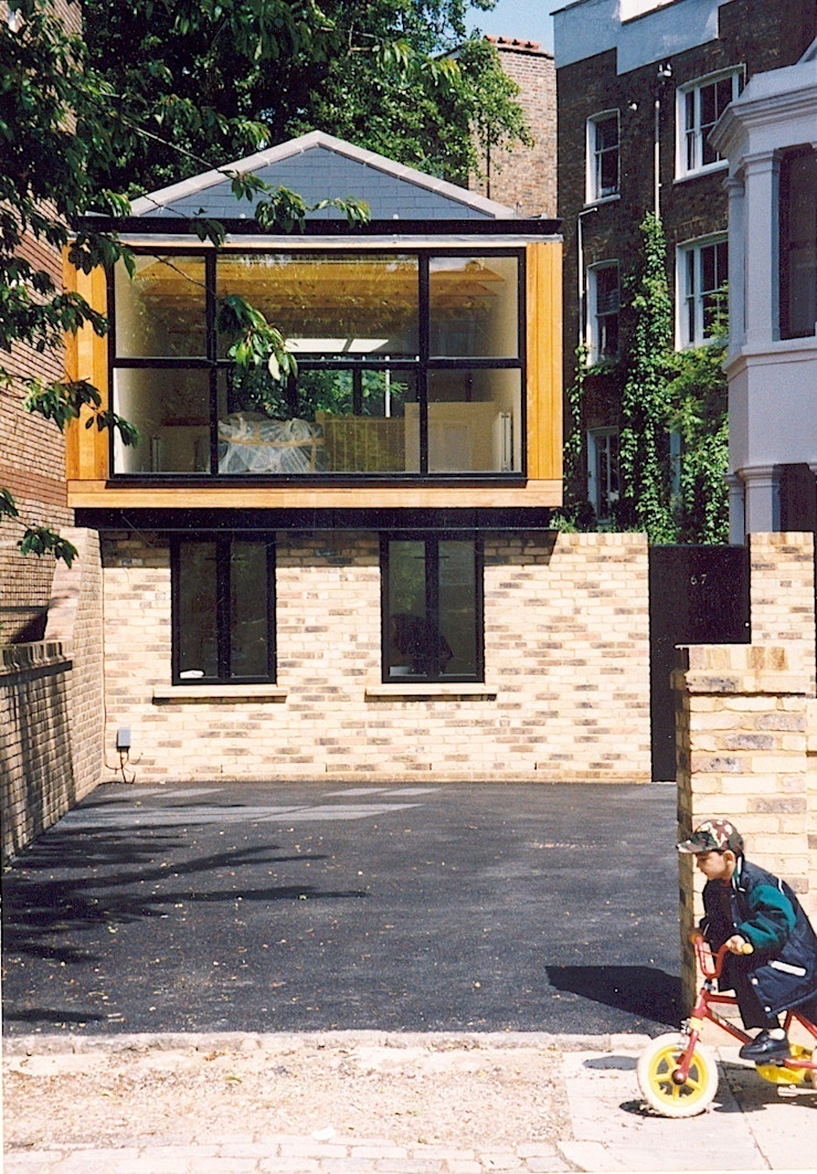 Elevation to street Giles Jollands Architect Modern houses